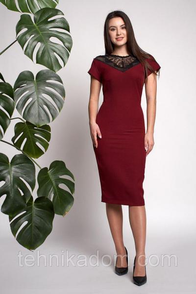 Платье Аделина 0309_4 Бордовое
