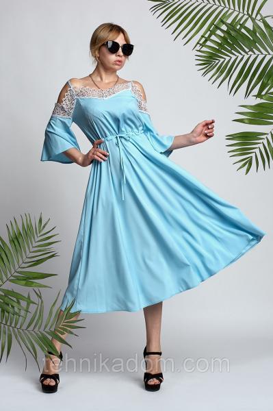 Платье Анабель 0328_3 голубое