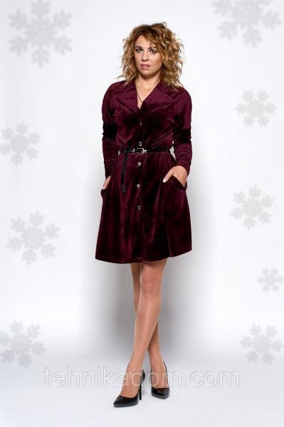 Платье Рокси 0443_1 бордовое