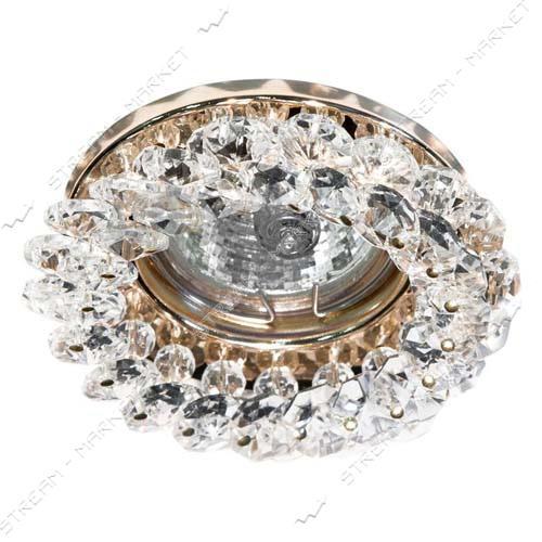 Светильник точечный Feron СD 4141 прозрачное золото