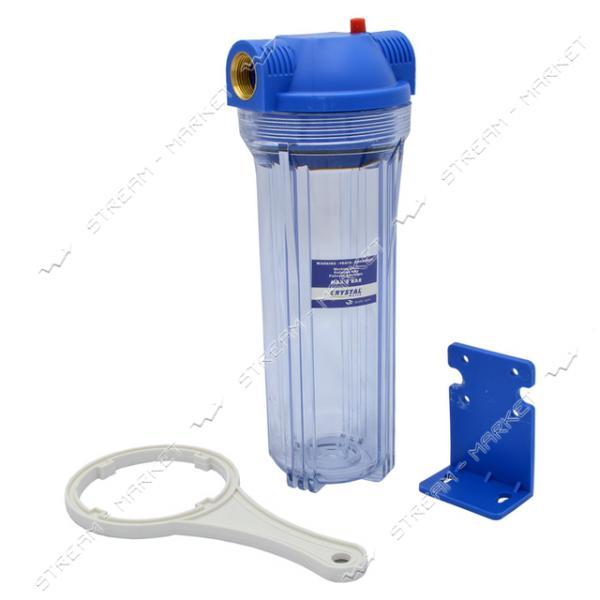 CRISTAL Колба для фильтра воды 1' (без картриджей) держатель ключ