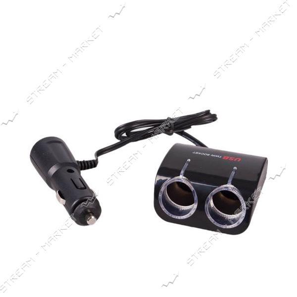 Разветвитель прикуривателя PULSO SC-2070 2 выхода плюс 1 USB 1000 mA 12/24 V