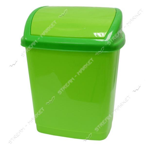 Ведро конверт Горизонт пластиковое 16 л салатовое