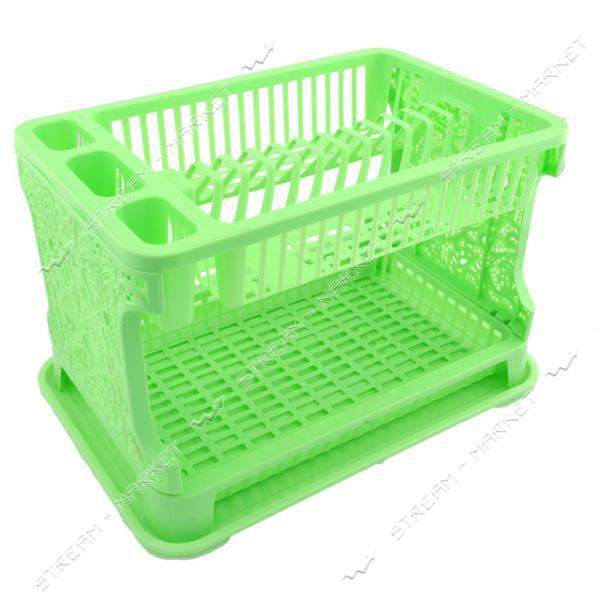 Сушка для посуды Efe Plastics АЖУР 2 ярусная 270х300х440мм мятная