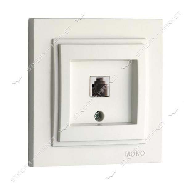 190025-124 MONO ELECTRIC Despina Розетка телефонная (САТ3) белая