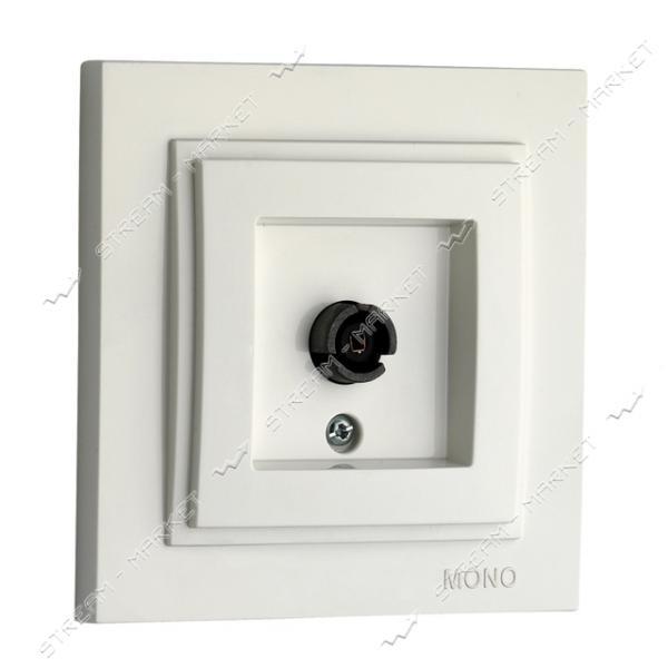 MONO ELECTRIC Despina 102-190005-138 Розетка телефонная проходная белая