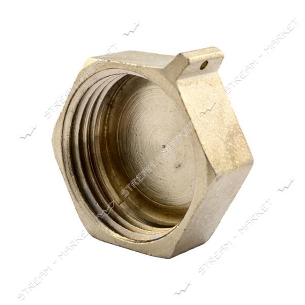 Заглушка латунная 3/4'В RS Люкс никелированная