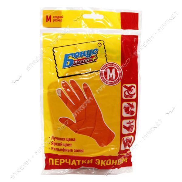 Перчатки резиновые Бонус универсальные М эконом