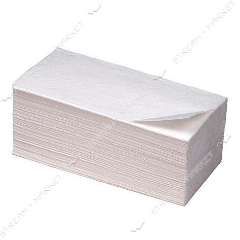 Полотенца бумажные PROservice Comfort V-сложение листовые двухслойные белые 160 шт