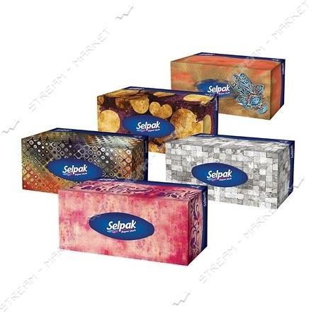 SELPAK Салфетки гигиенические в коробке Макси Макс 100шт