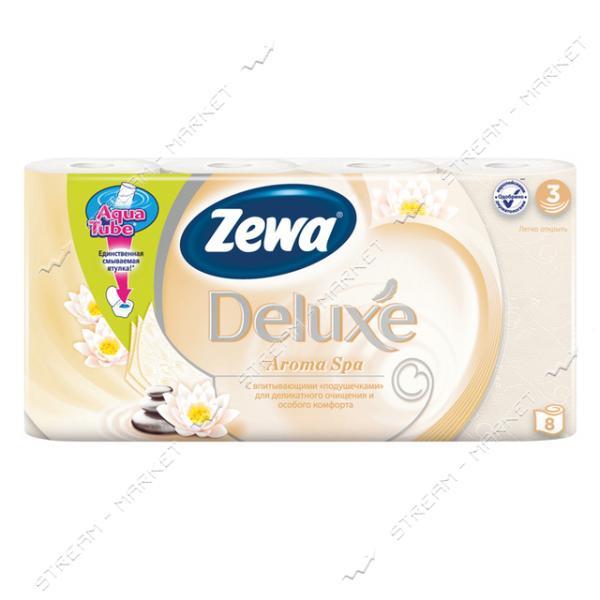 Туалетная бумага Zewa Deluxe Aroma Spa 3 слоя 8 шт