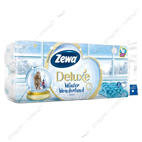 Туалетная бумага Zewa Deluxe Winter Wonderland 3 слоя 8 шт плюс 2 шт