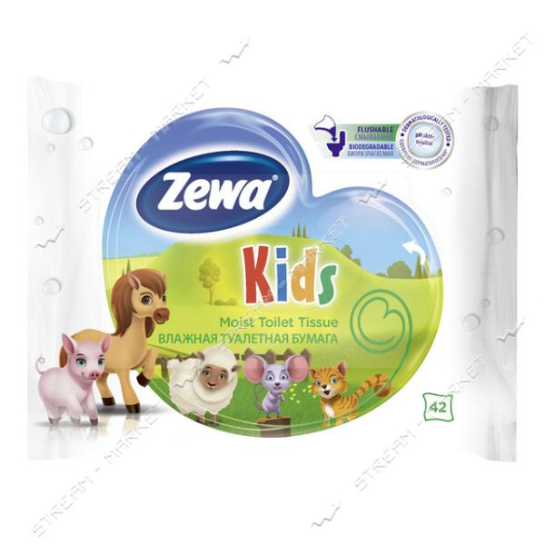 Туалетная бумага влажная Zewa Kids 42 шт