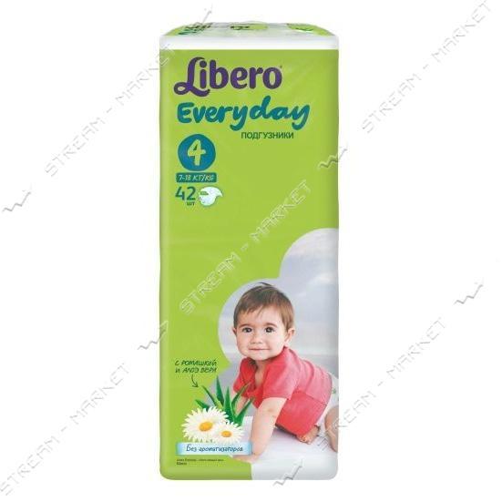 Подгузники детские Libero Everyday 4 7-18 кг 42 шт