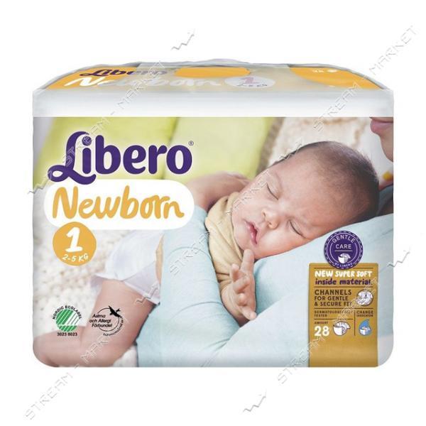 Подгузники детские Libero Newborn 1 2-5 кг 28 шт