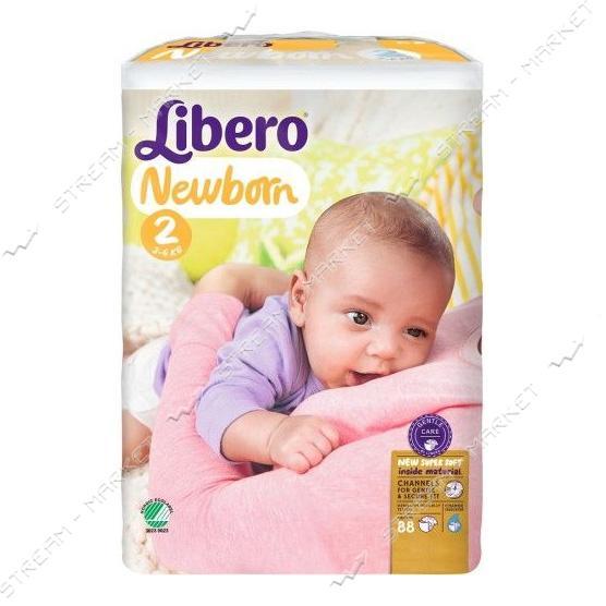 Подгузники детские Libero Newborn 2 3-6 кг 88 шт