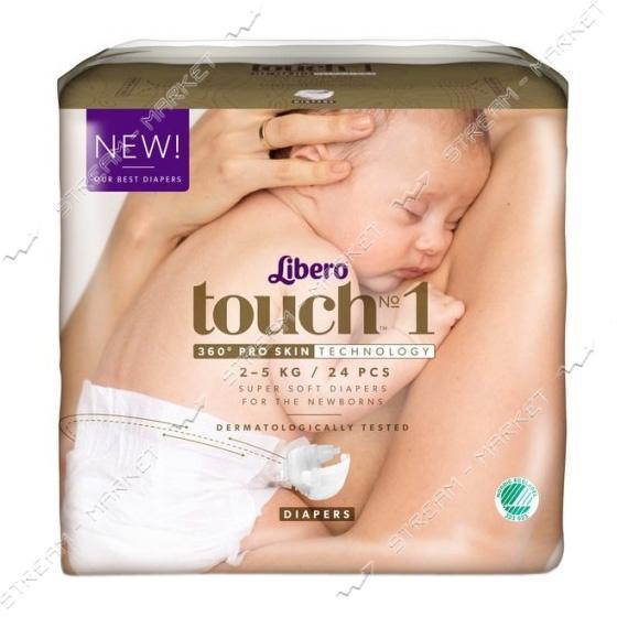Подгузники детские Libero Touch 1 2-5 кг 24 шт