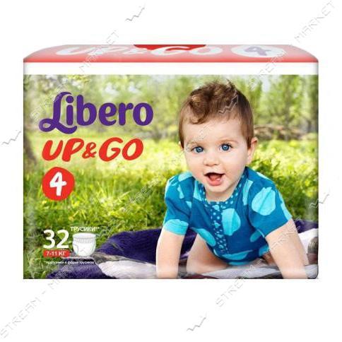 Подгузники-трусики детские Libero Up&Go 4 7-11 кг 32 шт