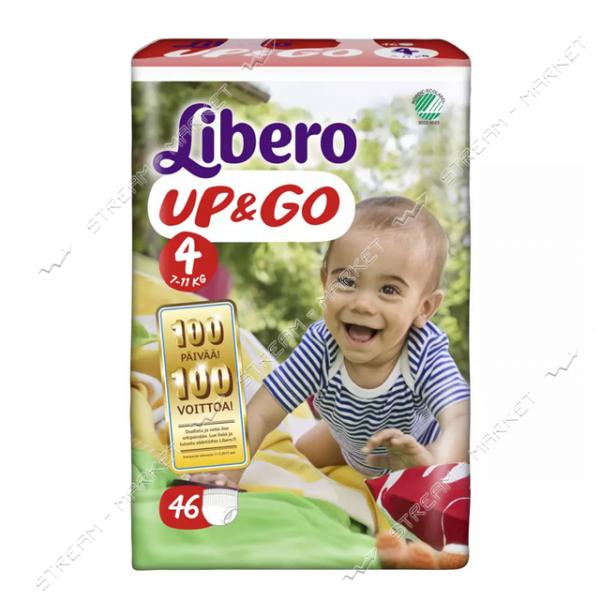 Подгузники-трусики детские Libero Up&Go 4 7-11 кг 46 шт