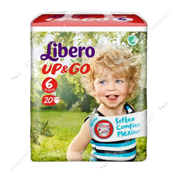 Подгузники-трусики детские Libero Up&Go 6 13-20 кг 20 шт