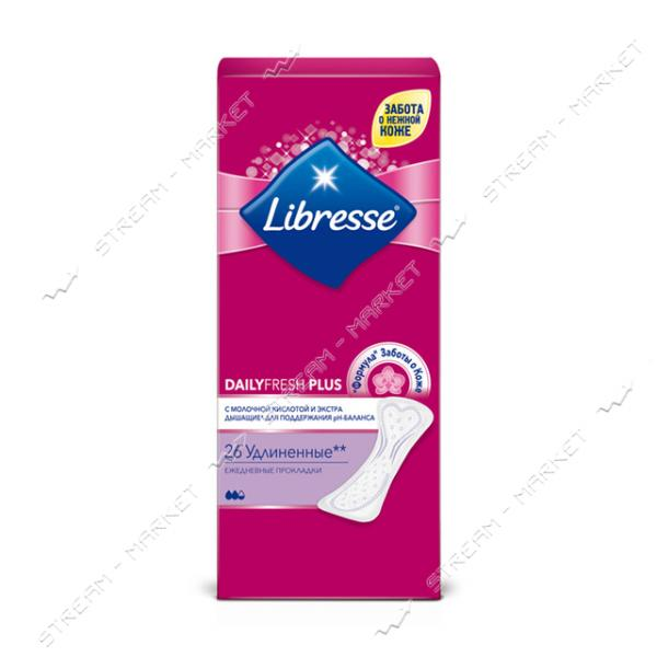 Libresse Ежедневные гигиенические прокладки Dailyfresh Plus Long 26шт