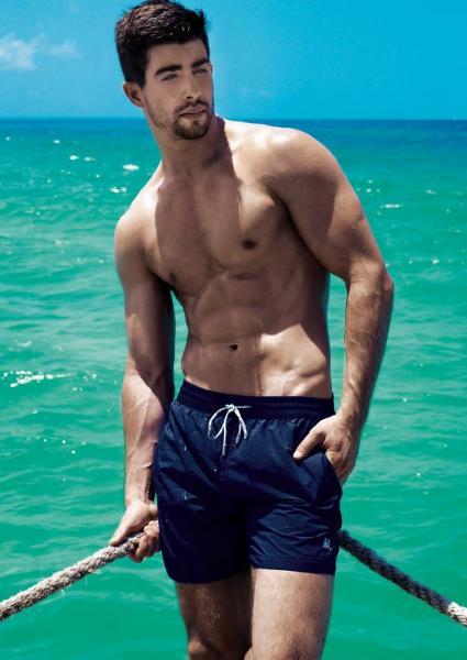 Большие купальные шорты David Man BS 5950 60(5XL) Синий David Man BS 5950