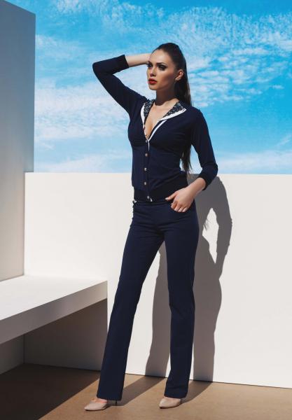 Синий пляжный пиджак Ora 700130/1 48(XL) Синий Ora 700130/1