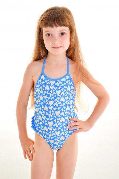 Детский купальник с сердцем Keyzi Baby 1 G 92 Голубой Keyzi Baby 1 G