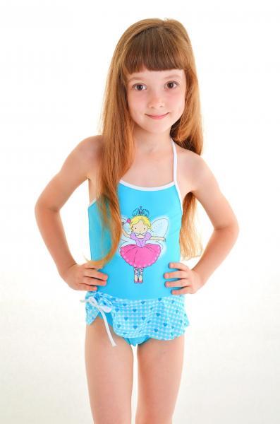 Детский купальник с принтом Keyzi Princesa G 116 Голубой Keyzi Princesa G