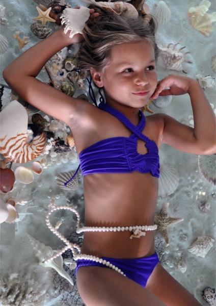 Купальники бандо для девочек BAEL Коса 5513 152 Фиолетовый BAEL 5513