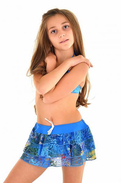 Детская пляжная юбка Amarea 17905 122 Голубой Amarea 17905