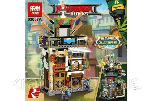03057А Конструктор Lepin Ninjago Штабквартира Ниндзя (аналог Lego Ninjago Movie 70620) 487 дет.