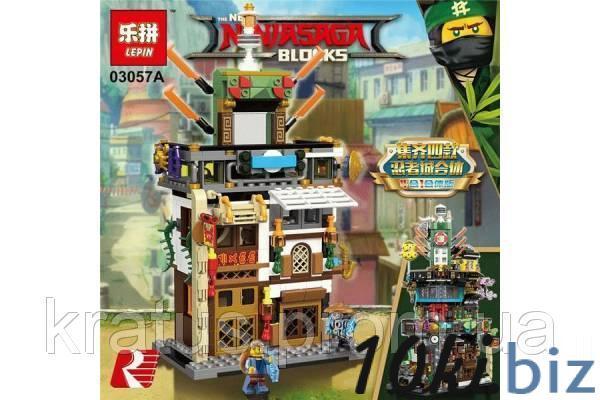 03057А Конструктор Lepin Ninjago Штабквартира Ниндзя (аналог Lego Ninjago Movie 70620) 487 дет., цена фото купить в Киеве. Раздел Конструкторы