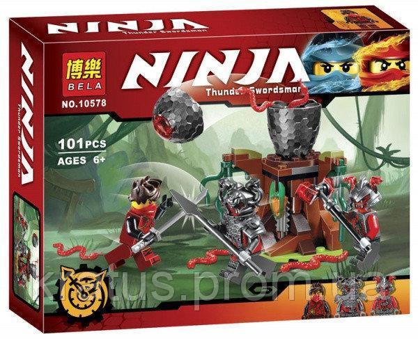 "10578 Конструктор Bela Ninja (аналог Lego Ninjago 70621) ""Атака Алой армии"" 101 дет"
