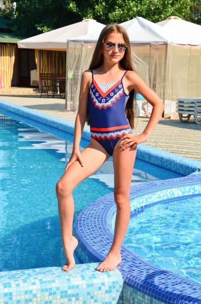 Сплошной купальник для девочки Keyzi Marine 128 Синий Keyzi Marine