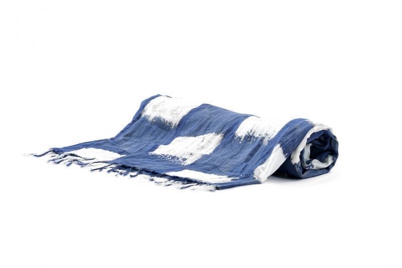 Пляжная подстилка на лежак David DB9-020 One Size Синий-Белый David DB9-020