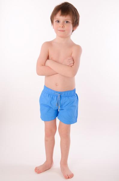 Детские голубые пляжные шорты David D1 6958 A 116 Голубой David D1 6958 A