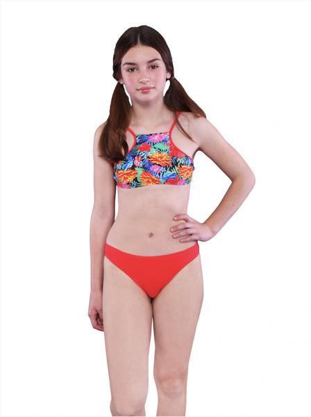 Цветочный купальник для девочки Keyzi Eden 164 Красный Keyzi Eden