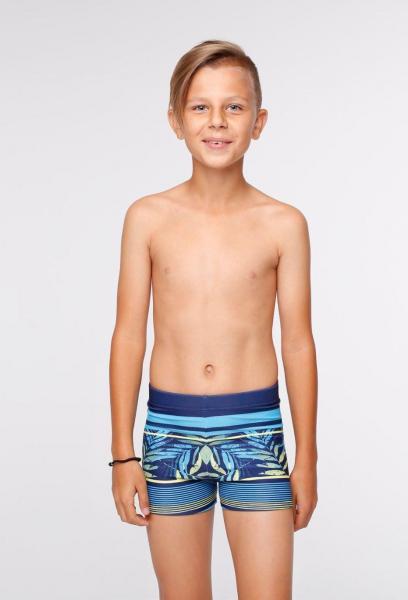 Синие плавки для мальчика Keyzi Tropical Box 164 Синий Keyzi Tropical Box