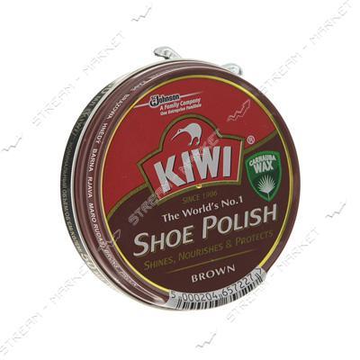 Kiwi Крем для обуви для гладкой кожи коричневый ж/б 50мл