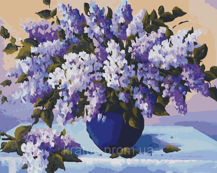 AS 0518 Душистая сирень Картина по номерам на холсте ART STORY 40x50см