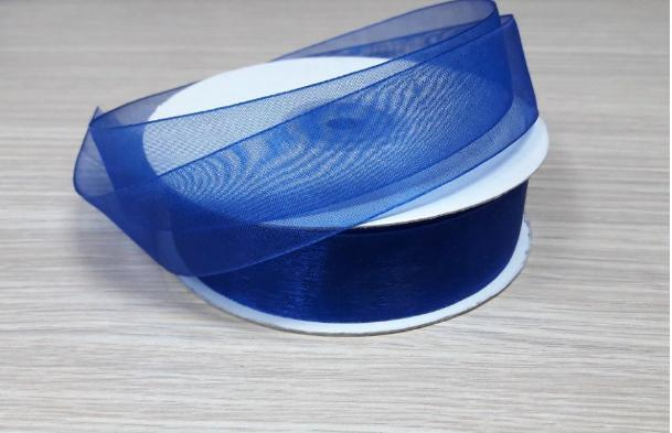 Фото Ленты, Лента органза однотонная Лента Органза синий электрик цвет 2,5 см (  Остаток  1 упаковка  1 м. 75 см. )
