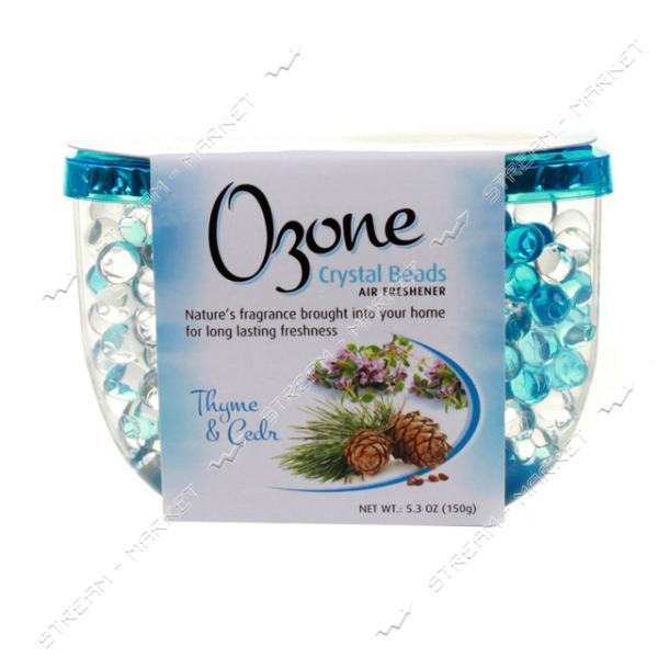 Освежитель воздуха кристаллический Ozone Crystal Beads на гелевой основе Тимьян и кедр 150 гр
