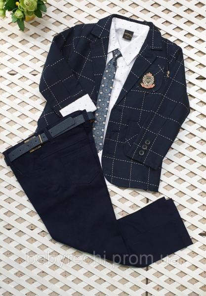 Детский нарядный  костюм с галстуком на мальчика 110-128 см 128