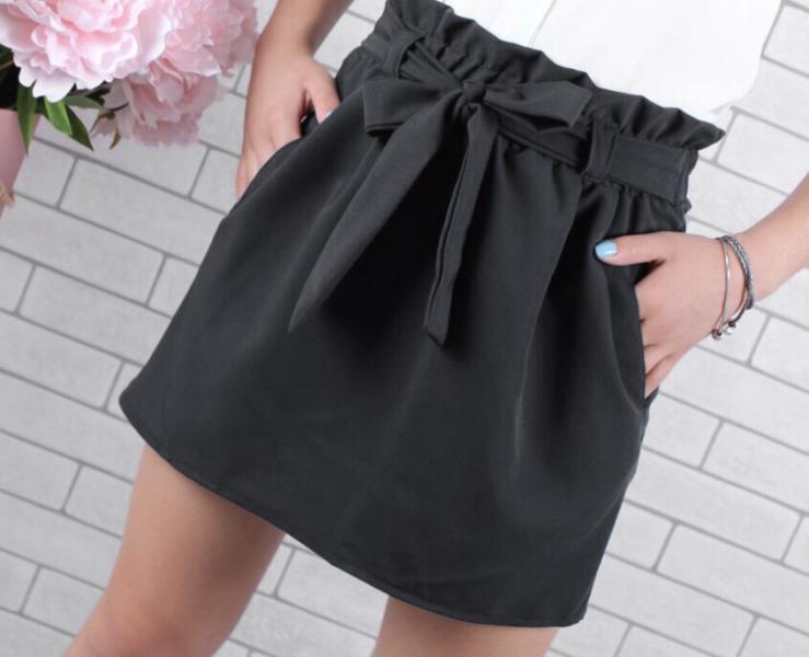 Модная юбка для девочки с бантом 128-158 см