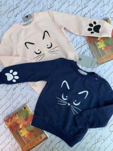 Фото Кофты, толстовки, рубашки, свитера Модная кофта Котик 92-110 см