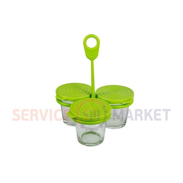 Набор баночек круглых (3шт) с держателем для пароварки Tefal XA500039 (аксессуар)