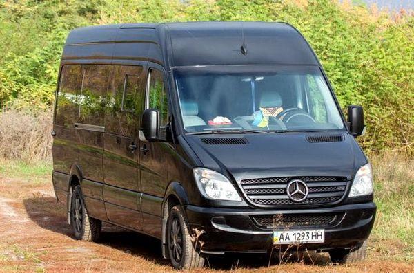Микроавтобус Mercedes Sprinter черный аренда Киев цена