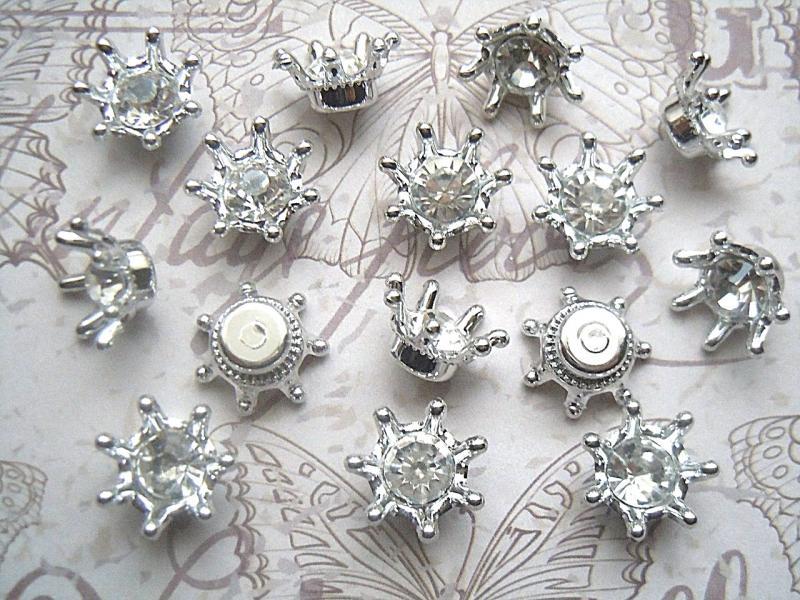 Фото Серединки ,кабашоны, Серединки с жемчугом и стразами Серединка  15 мм.