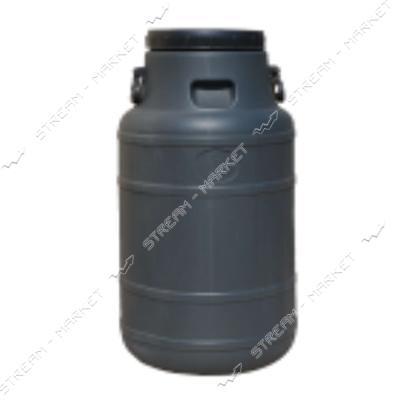 Бочка непищевая Пласт Бак пластиковая с пластиковыми ручками черная 120 л